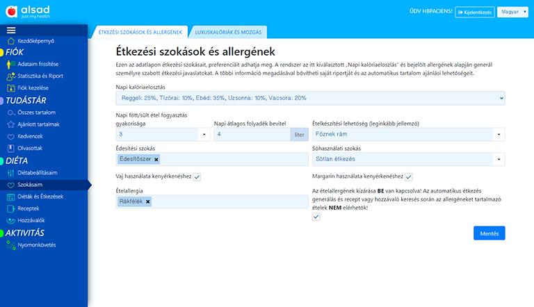 Étkezési szokások és allergének